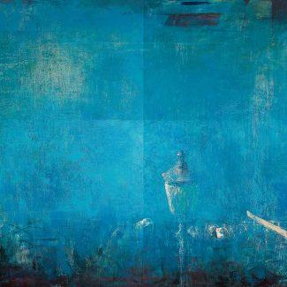 IL TEVERE A SAN MICHELE. Díptico, óleo sobre tela, 1994.