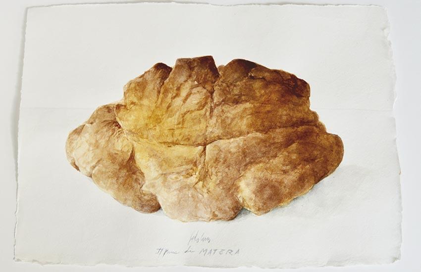 Pan, acuarela Matera