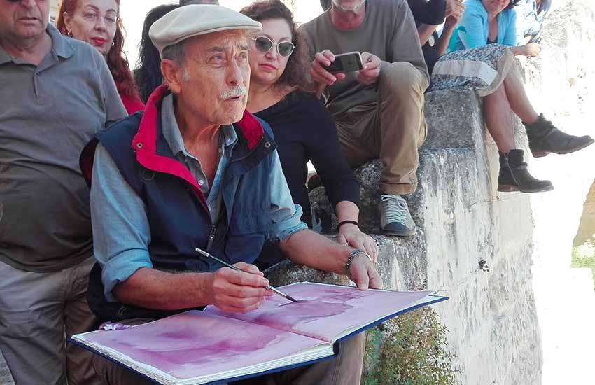 Taller en Matera con Pedro Cano